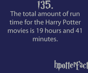 fact, harry potter, and harry potter facts image