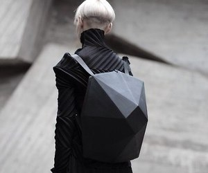 backpack, black, and fashion image