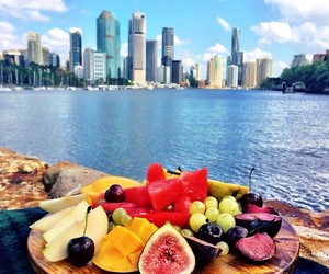 city, healthy food, and food image