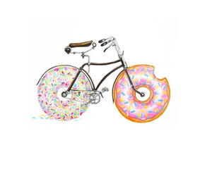 donuts, bike, and transparent image