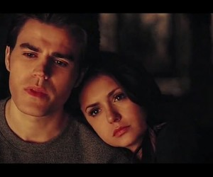 the vampire diaries, Nina Dobrev, and paul wesley image