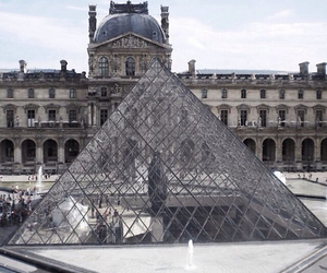louvre, monument, and pyramide image