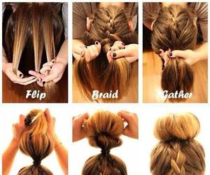 bun, tutorial, and hairstyle image