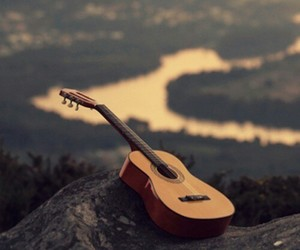 alone, guitar, and music image