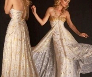 dress, fancy, and gold image