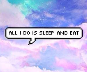 eat, sleep, and speechbubbles image