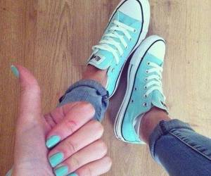 blue, converse, and nails image