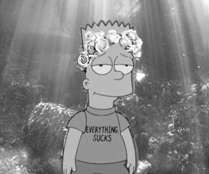 bart, simpsons, and flowers image