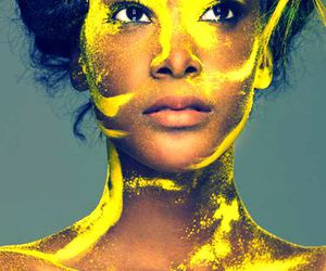 model, yellow, and ANTM image
