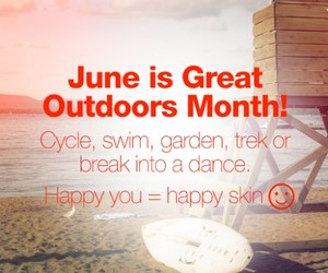 beauty, exercise, and june image