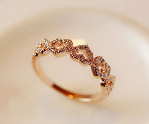ring, gold, and love image