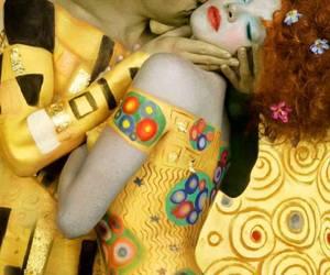 art, Gustav Klimt, and kiss image