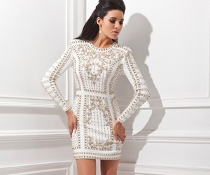 cocktail dress, short dress, and white image