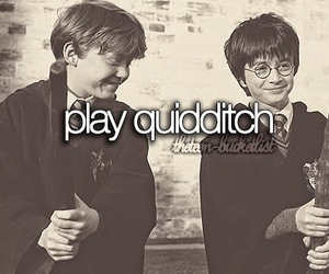 harry potter, quidditch, and bucket list image