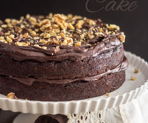 cake, chocolate, and meal image