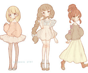 anime, cute, and chibi image