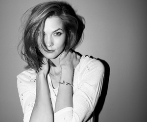 black and white, model, and karliekloss image