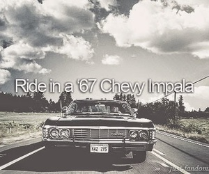 impala, supernatural, and chevy image