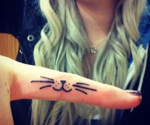 tattoo, cat, and fingers image