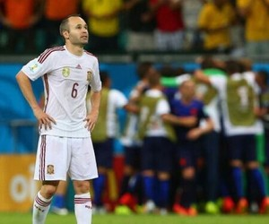 world cup and iniesta image