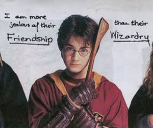 harry potter, friendship, and post secret image