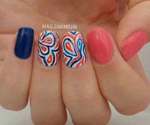 flowers, nail, and cute image