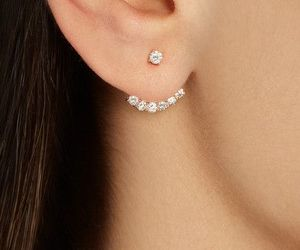 beautiful, bling, and ear ring image
