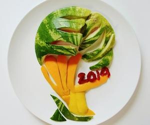 food, football, and fruit image