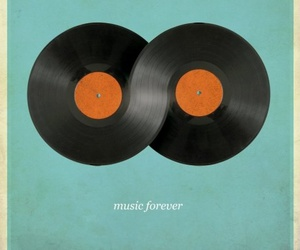music, forever, and vinyl image