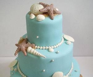 cake, sea, and sweet image