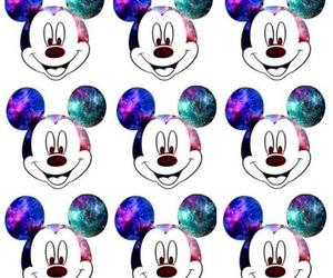 galaxy, mickey, and disney image