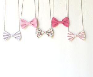 necklace, bow, and pink image
