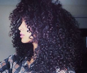 hair, curly hair, and curly image