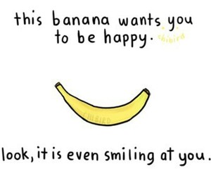 banana, smile, and happy image