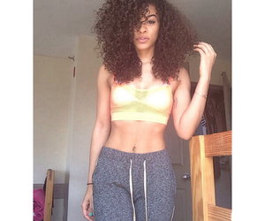 beautiful, girl, and curly image