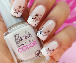 barbie, nail art, and star image
