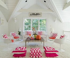 house, pink, and room image