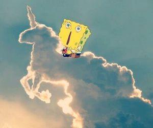 unicorn, clouds, and sky image