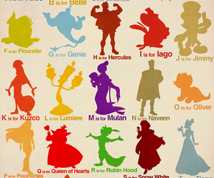 disney, alphabet, and princess image
