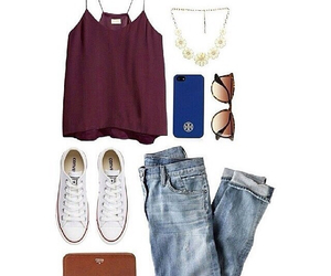 accessories, clothes, and jeans image