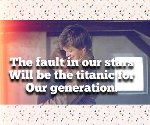 john green, love story, and titanic image