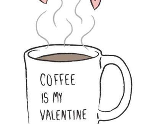 coffee, valentine, and heart image