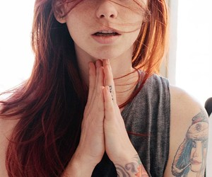 beauty, redhead, and Tattoos image