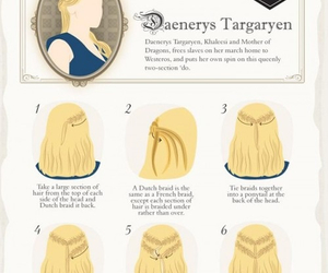 game of thrones, hair, and hairstyle image
