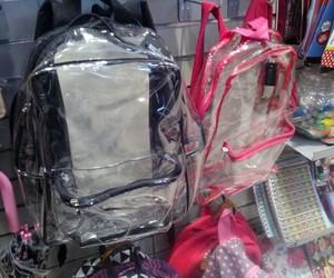 backpack, clear, and OMG image