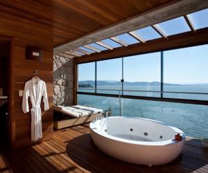 ocean, bathroom, and beach image
