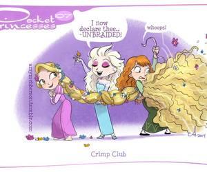 disney, pocket princesses, and rapunzel image