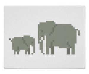 baby, elephant, and mother image