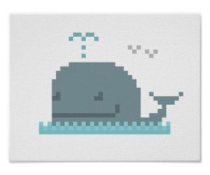 ocean, pixel art, and whale image