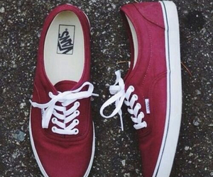vans, red, and hipster image